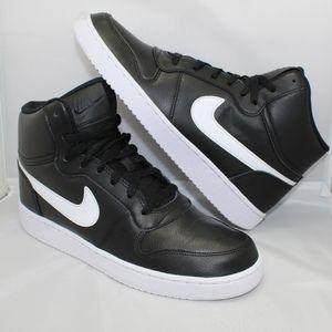 Mens Nike Ebernon High Black White 9